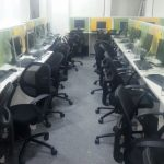 Call center setup for night shift near Station